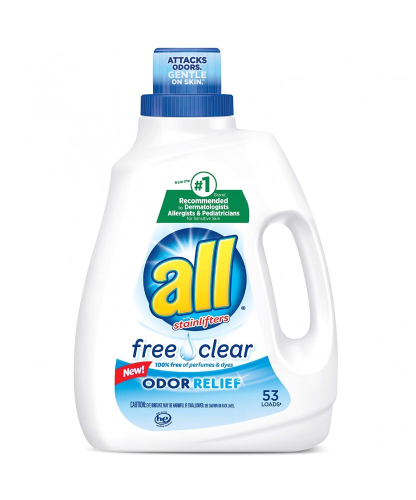 All Free & Clear Liquid Laundry Detergent 94.5oz Case of 4