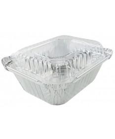 Aluminum  1lb Oblong Dome Lid