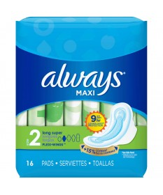 Always Maxi Long Super w/ Wings  16ct