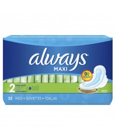 Always Maxi Long Super w/ Wings  2/32ct
