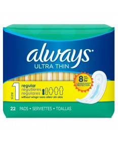 Always Ultra  Thin Regular   12/22ct