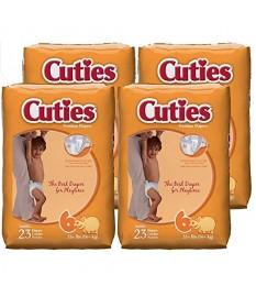 Cutie Diapers (35lbs) Size 6 4/23ct