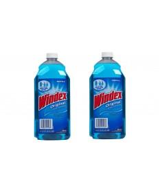 Windex Glass Cleaner Blue Ammonia Refil  67.60oz Case of 6