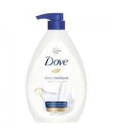 Dove Body Wash w/ Pump Deep Moisture  34oz Case of 4