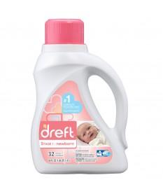 Dreft  Liquid Detergent 2xHE 32 loads 50oz Case of 6