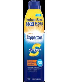 Coppertone Sport Sunscreen Continuous Spray- SPF30 7oz 3 Pack