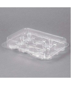 12 Compartment  Mini Muffin Hinged Container  Case of 350