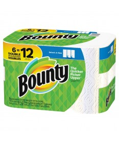 Bounty Paper Towels Select-A-Size  Case of 12