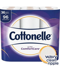 Cottonelle Double Rolls  36 Pack