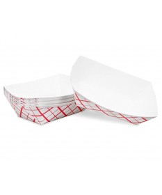 #25 Food Tray Red Plaid Case of 1000